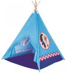 Bino indijanski šator s četiri zida, plavi