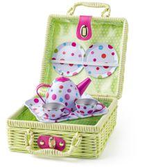Woody Piknik košík s čajovou soupravou, 8ks