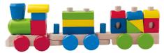 Woody drvena igračka lokomotiva s vagonima i dodacima