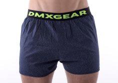 DMXGEAR luxusní pánské modré volné trenýrky Dark Exclusive Tartan
