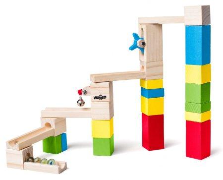 Woody lesene kocke in tir, 26 delov