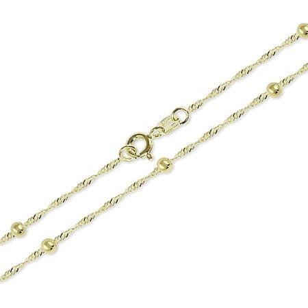 Brilio Zlata zapestnica Lambáda s kuličky 19 cm 261 115 00278 rumeno zlato 585/1000