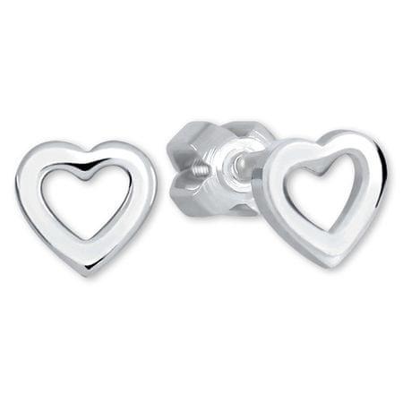 Brilio Silver Srebrne srdíčkové Kolczyki 431 001 01283 04 srebro 925/1000