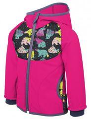 Unuo softshell jakna za djevojčice s polarnim medvjedima