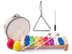 Woody glasbeni komplet tamborin/boben