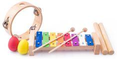 Woody glasbeni komplet tamborin/lesene palice
