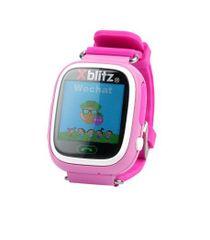 XBlitz Interaktívne detské inteligentné hodinky s Wi-Fi a GPS lokátorom, Love Me - ružová farba