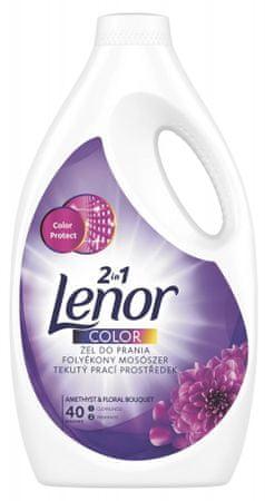 Lenor tekoči pralni prašek Amethyst Color, za 40 pranj
