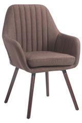 BHM Germany Jídelní židle s područkami Fiona textil, nohy ořech