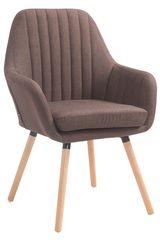 BHM Germany Jídelní židle s područkami Fiona textil, přírodní nohy