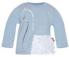 2be3 koszulka dziewczęca z łabędziem i falbankami