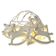 EMOS łańcuch LED – konie, 2×AA, ciepły biały, timer
