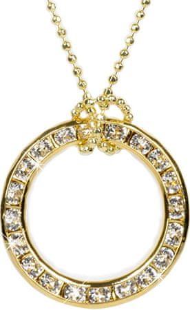 Troli Ogrlica Krog zlato 20 mm kristal