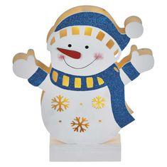Emos LED leseni snežak, 26,5 c,. 2xAA, toplo bela svetloba, s časovnikom