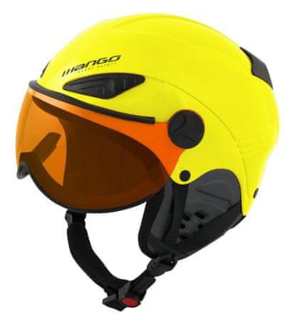 Mango kask narciarski dziecięcy Rock Pro żółty 53 - 55