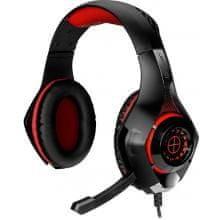 Tracer Gaming slušalke, Battle Heroes Gunman, z mikrofonom, rdeče - Odprta embalaža