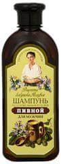 Babushka Agafia Šampón na vlasy s pivným droždím a mydlice pre mužov 350 ml