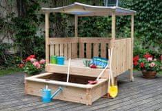 Woody Záhradné pieskovisko so zasúvacím odpočívadlom PREMIUM