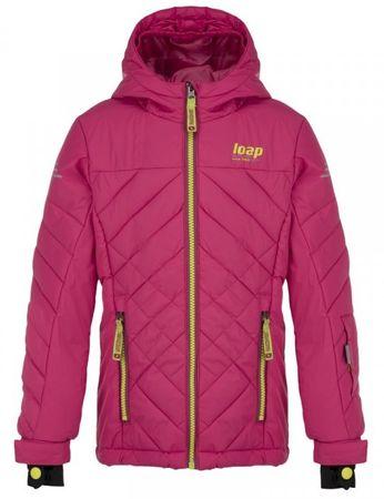 Loap dievčenská lyžiarska bunda FEBINA 122/128 ružová