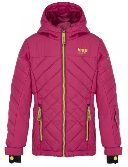 Loap dívčí lyžařská bunda FEBINA 112/116 růžová