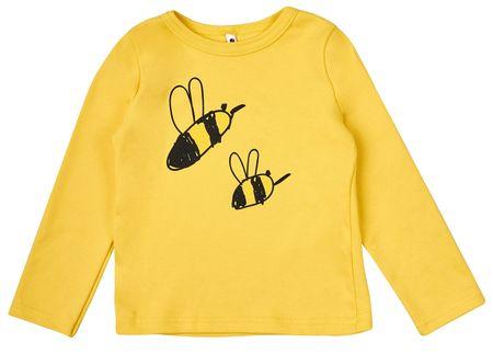 Garnamama otroška majica s čebelicami, 68, rumena