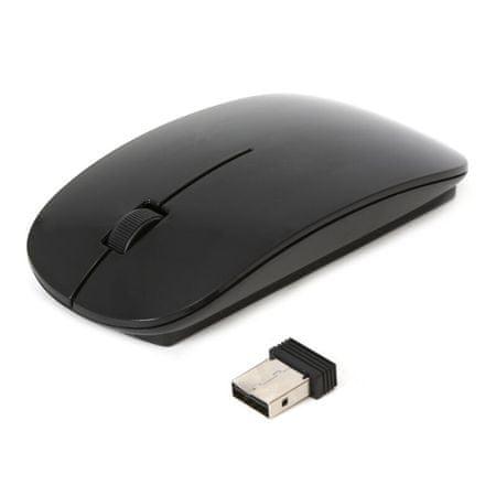 Omega optična brezžična miška OM414, USB nano sprejemnik, 1000dpi, 3 tipke, črna