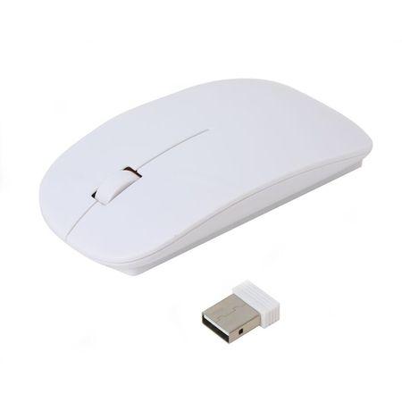 Omega optična brezžična miška OM414, USB nano sprejemnik, 1000dpi, 3 tipke, bela