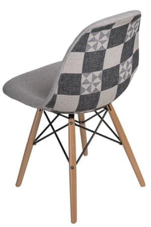 Mørtens Furniture Jídelní židle s dřevěnou podnoží Desire patchwork
