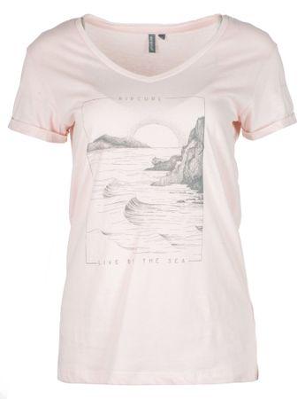 Rip Curl dámské tričko By The Sea L svetlo ružová