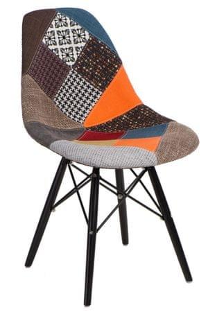 Mørtens Furniture Jídelní židle s černou podnoží Desire patchwork, barevná