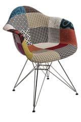 Mørtens Furniture Jedálenská stolička Blom patchwork, farebná