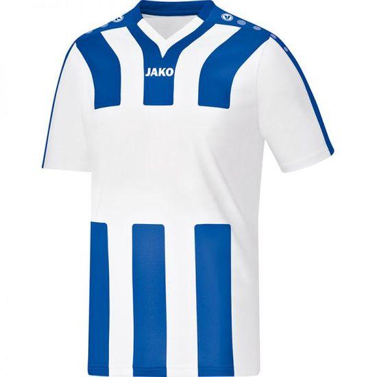 JAKO SANTOS dres krátký rukáv vel. 140, bílá/modrá