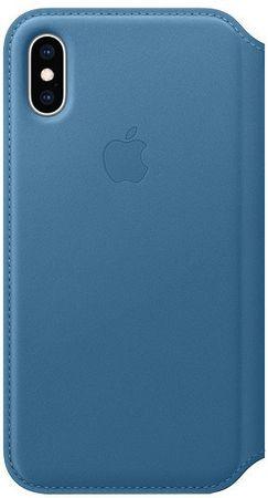 Apple Folio bőrtok iPhone XS-re, kékesszürke MRX02ZM/A