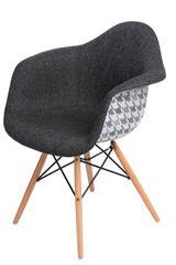 Mørtens Furniture Jedálenská stolička s drevenou podnožou Blom pepito