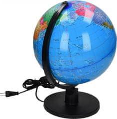 GLOBE globus z lučko, 25 cm