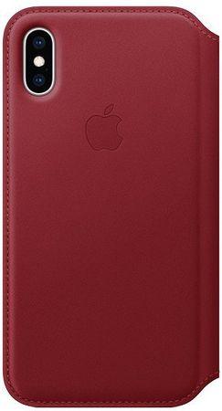 Apple ovitek Folio za telefon iPhone XS, Red, usnjen