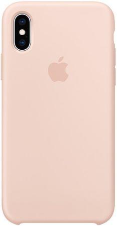 Apple silikonska maskica MTF82ZM/A za telefon iPhone XS, svijetlo roza