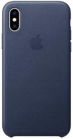 Apple ovitek MRWN2ZM/A za telefon iPhone XS, usnjen, temno moder
