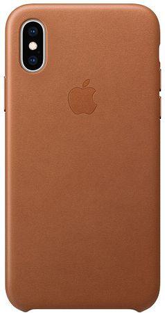 Apple bőrtok az iPhone XS-re, nyereg barna MRWP2ZM/A