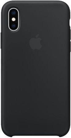 Apple szilikontok iPhone XS, fekete MRW72ZM/A