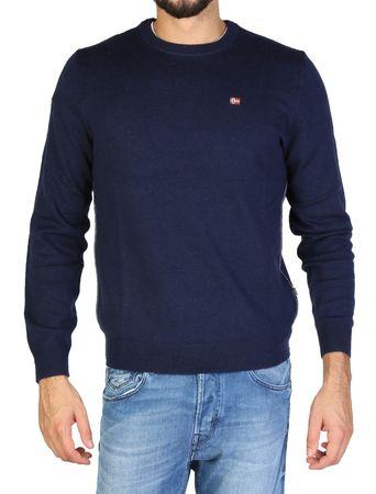 Napapijri moški pulover, L, temno moder