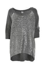 Deha Dámsky sveter Boatneck Sweater D63150 Dark Grey Mel.Lange