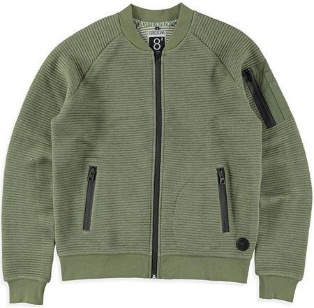 Cars-Jeans Pánská zelená mikina Ivan Army 4382619 (Velikost S)