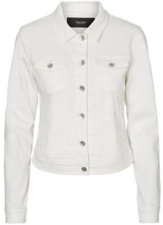 Vero Moda Kurtka damska Hot Soja Ls Denim Jacket Mix Noos Bright White (rozmiar XS)