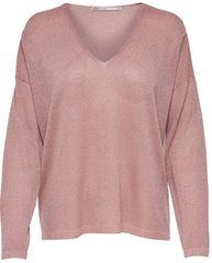 ONLY Dámsky sveter Pisa L/S V-Neck Pullover KNT Noos Misty Rose