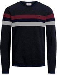 Jack&Jones Męska sweter Jorlabour Knit Crew Neck Dark Grey Melange
