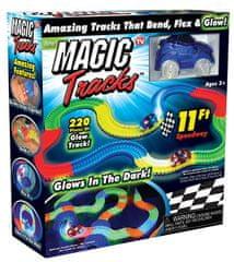 Wiky tor wyścigowy dla samochodzików Magic Tracks - świecący w ciemności