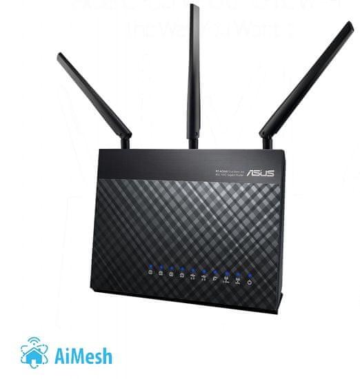 Asus RT-AC68U AiMesh router (90IG00C0-BM3010) + voucher HellSpy ZDARMA!