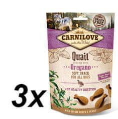 Carnilove Dog Semi Moist Snack Quail enriched with Oregano 3x200g