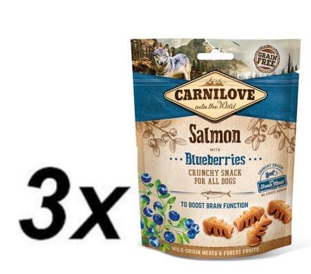 Carnilove przysmak dla psów Dog Crunchy Snack Salmon with Blueberries with fresh meat 3x200g